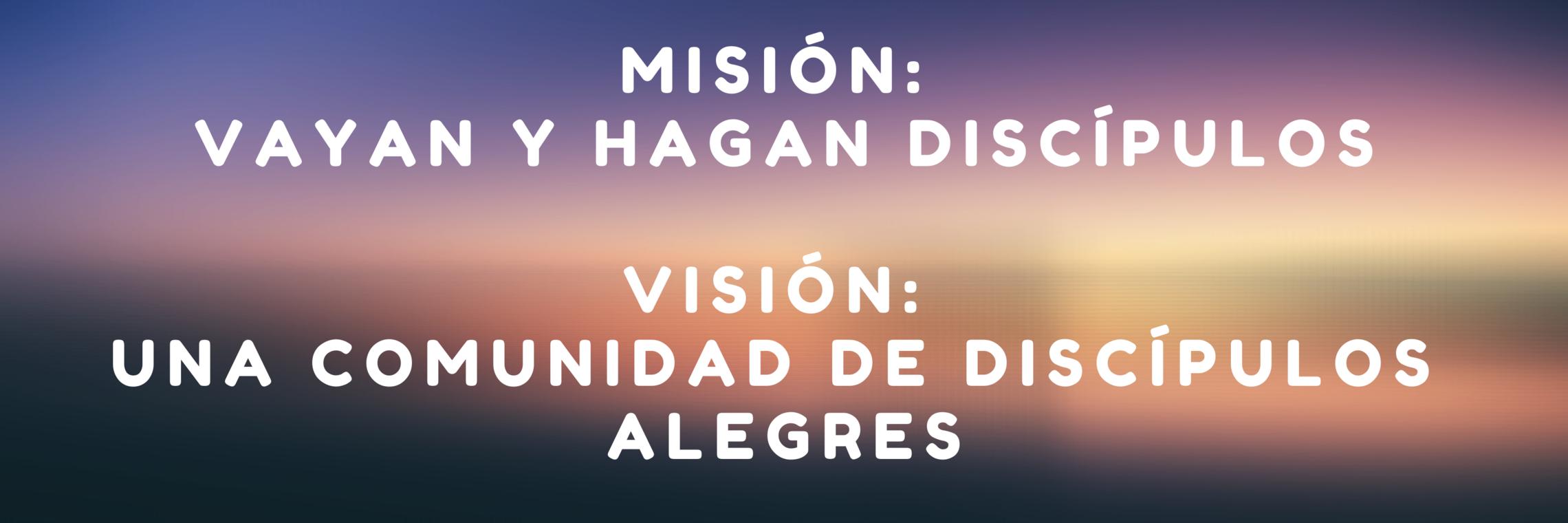 Misión y Visión Banner